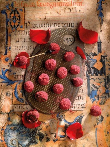 Trufes de gerds i rosa