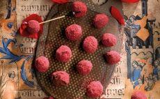 Trufes de frambuesas y rosa