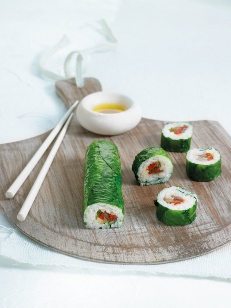 Sushi d'escalivada i aladroc