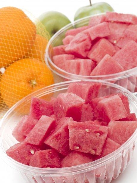 Fruita tallada a trossos