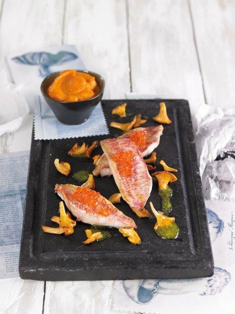 Puré cremós de moniatos i carbassa amb rossinyols