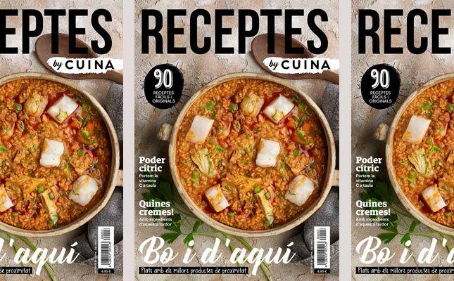 Portada del tercer número de la revista 'Receptes by CUINA'