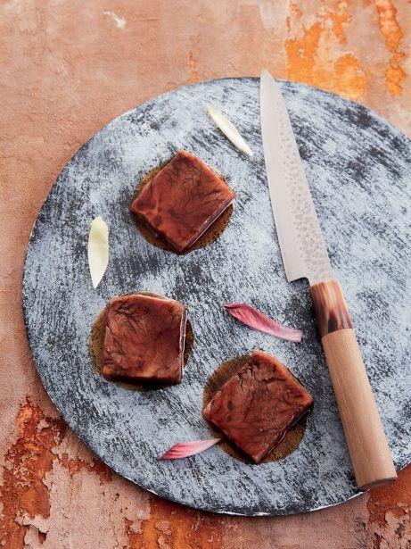 Llata de ternera con salsa agridulce