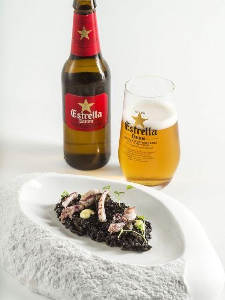 Arròs negre amb sípia, calamarsons i maionesa cítrica (DOP Arròs del Delta de l'Ebre)