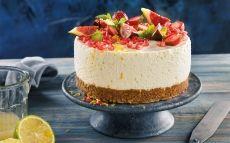 Pastel de queso, limón e higos
