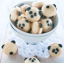 Macarons amb forma de panda