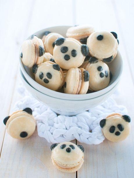Macarons en forma de panda