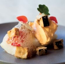 Bacallà a baixa temperatura amb textures de samfaina