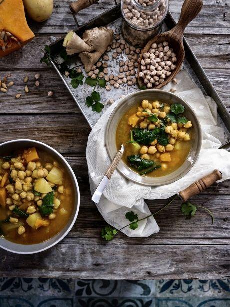 Sopa de cigrons amb caldo de verdura Aneto