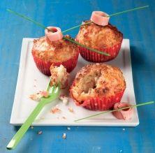 'Muffins' salats de pernil cuit