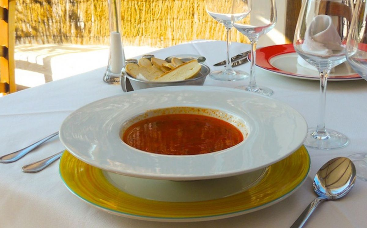 La sopa del restaurant S'Engolidor, en Menorca