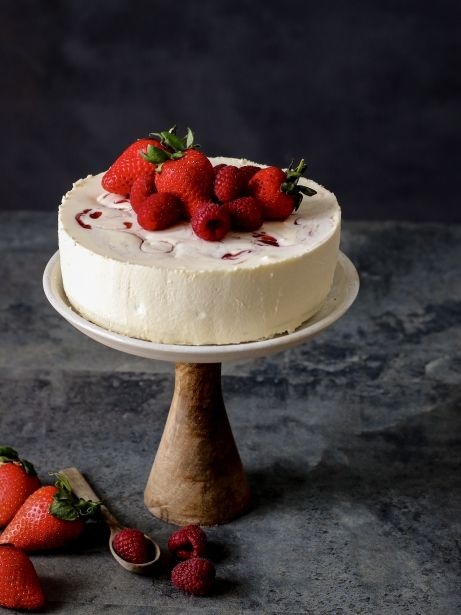 Pastís de xocolata blanca