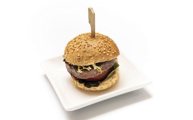 Minihamburguesa d'ànec i foie de l'Hotel H10 Metropolitan