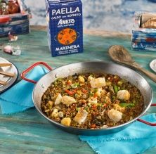 Arròs de bacallà i verdures