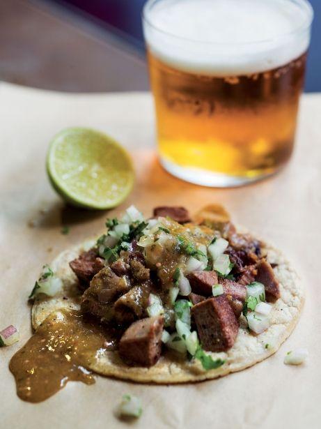 'Taco' de llengua a la graella