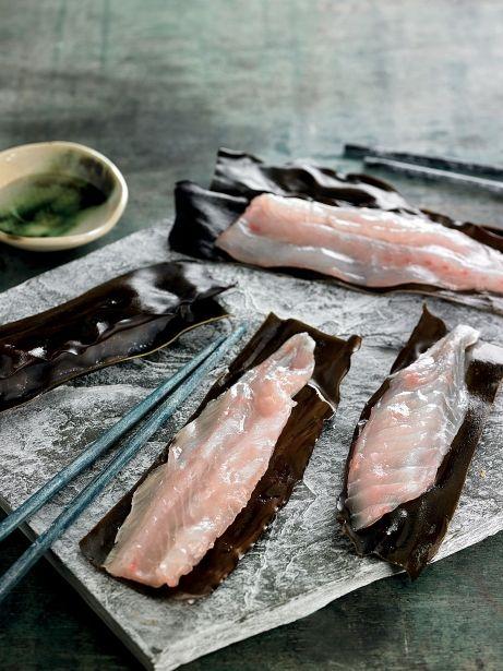 Orada curada-marinada a la japonesa
