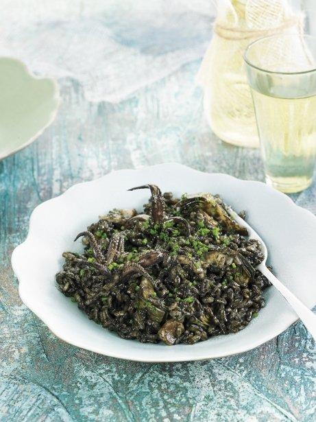 Risotto d'espàrrecs verds i gorgonzola