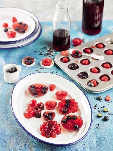 Agar-agar d'infusió d'hibisc amb fruita vermella i gingebre