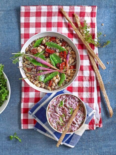 Ensalada de quinoa y tzatziki