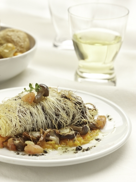 Filet de bou amb pasta kataïfi