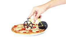 Tallador de pizza de bicicleta