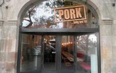 "Entrada del restaurant Pork<br type=""_moz"" />"